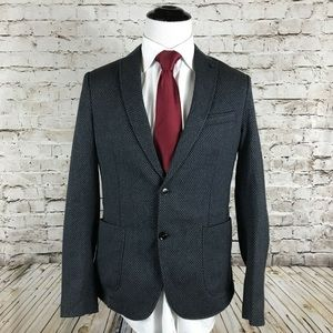 Zara Man Sport Coat Size 42R Tweed Gray